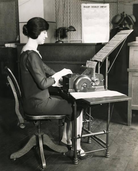 1920s Office Scene Poster