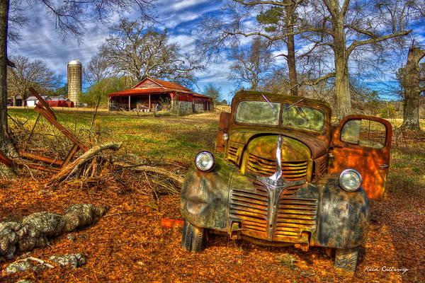 Retired 1947 Dodge Dump Truck Country Scene Art Poster