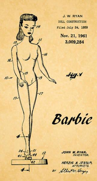1961 Barbie Doll Patent Art 5 Poster