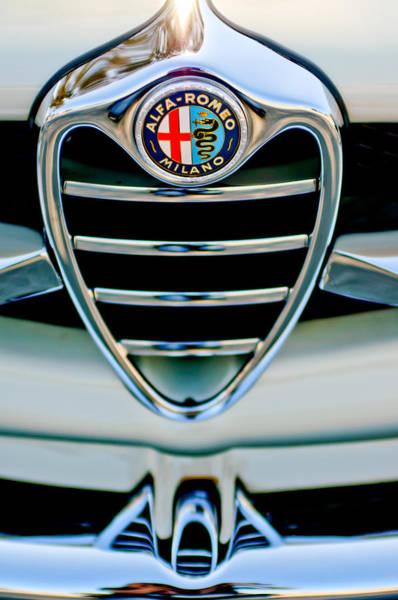 1962 Alfa Romeo Giulietta Coupe Sprint Speciale Grille Emblem Poster