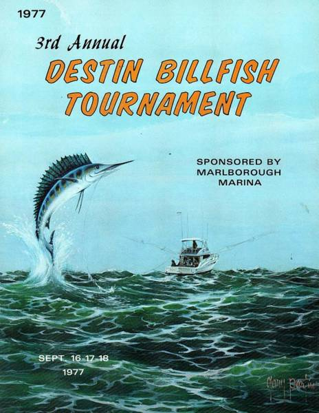 1977 Destin Billfish Tournament Poster