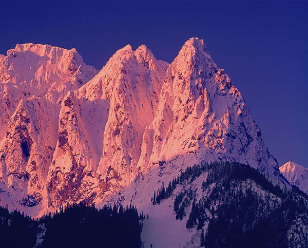 1m4503-a Three Peaks Of Mt. Index At Sunrise Poster