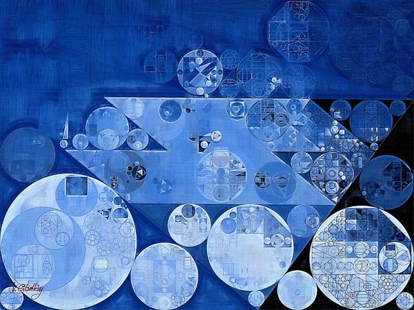 Abstract Painting - Havelock Blue Poster
