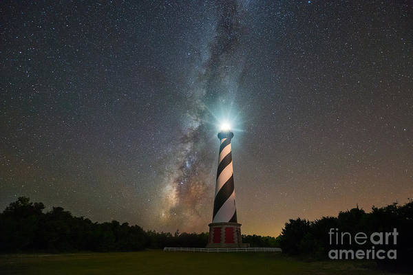 Cape Hatteras Lighthouse Milky Way Poster