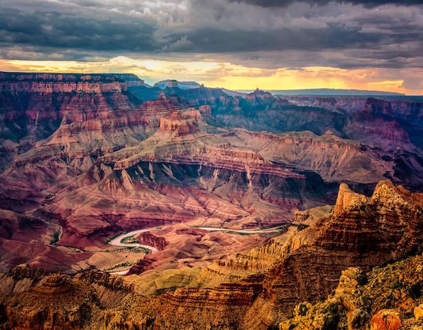 Colorado River Winding Thru Grand Canyon Poster