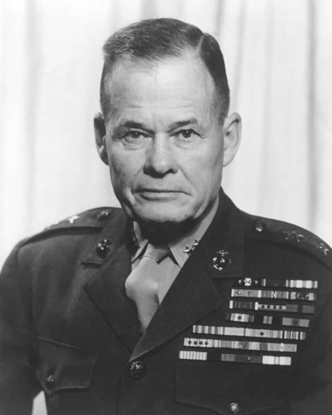 General Lewis Chesty Puller Poster