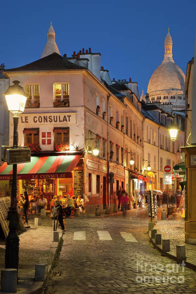 Poster featuring the photograph Montmartre Twilight by Brian Jannsen