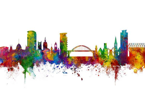 Sunderland England Skyline Poster