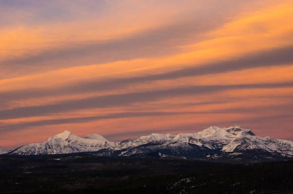 Sunset In Glacier National Park Poster