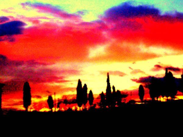 Sunset In Tuscany Poster