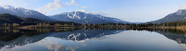 Whistler Blackcomb Green Lake Reflection Poster