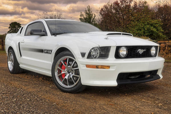 2008 Mustang Gt/cs - California Special - Sunset Poster