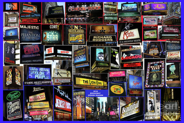 2016 Broadway Spring Collage Poster