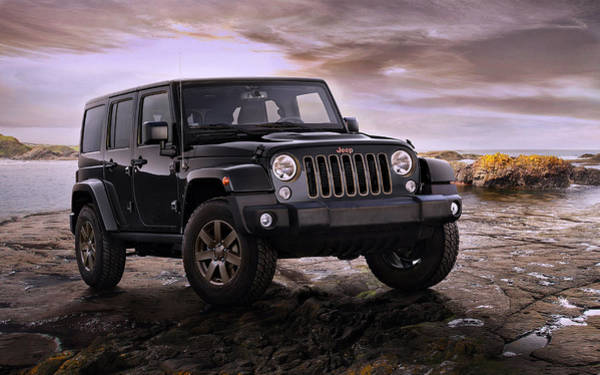 2016 Jeep Wrangler 75th Anniversary Model Poster