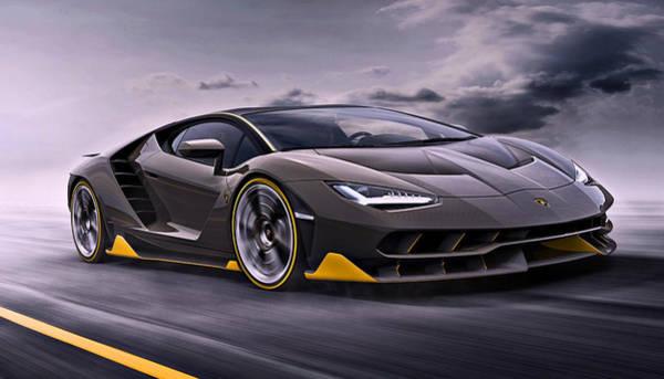 2017 Lamborghini Centenario Poster