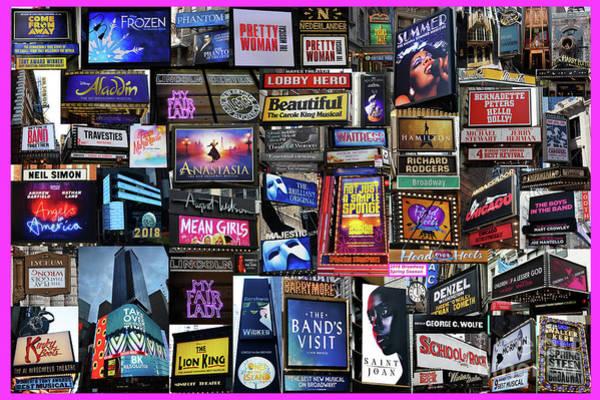2018 Broadway Spring Collage Poster
