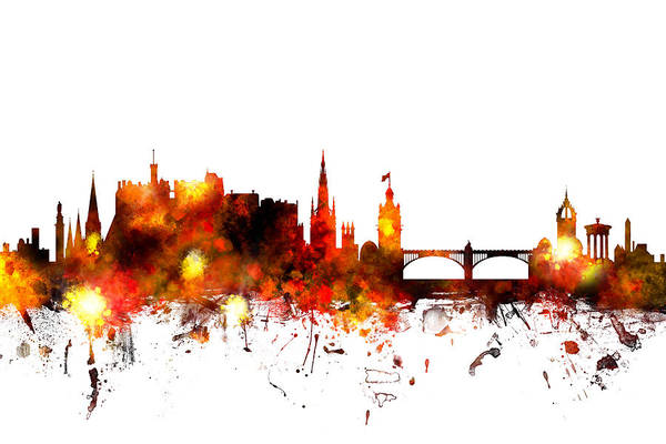 Edinburgh Scotland Skyline Poster