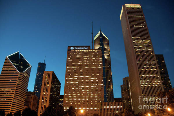 A View From Millenium Park At Dusk Poster