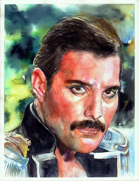 Freddie Mercury Portrait Poster