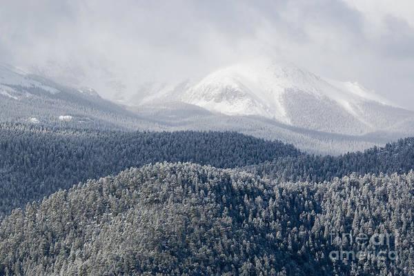Pikes Peak In Snow Poster