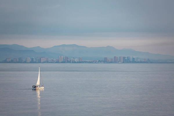 Sailing To Shore Poster