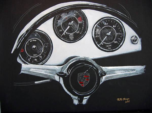 356 Porsche Dash Poster