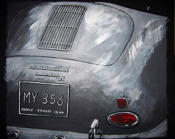 356 Porsche Rear Poster