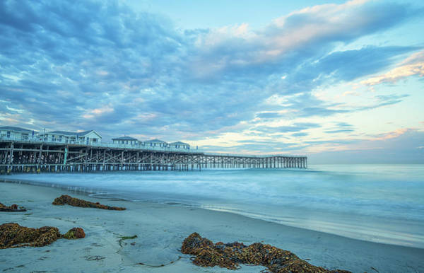 Cloud Cover Over Crystal Pier Poster