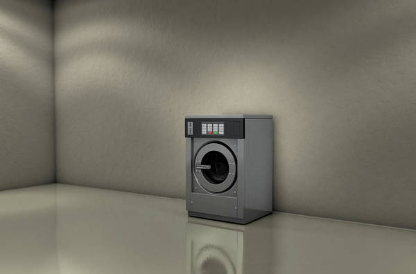 Industrial Washer In Empty Room Poster
