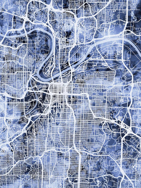 Kansas City Missouri City Map Poster