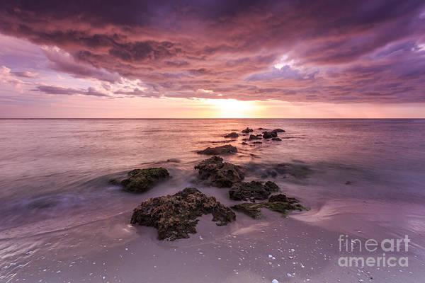 Sunset Naples Beach Florida Poster