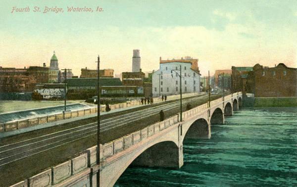 4th Street Bridge Waterloo Iowa Poster