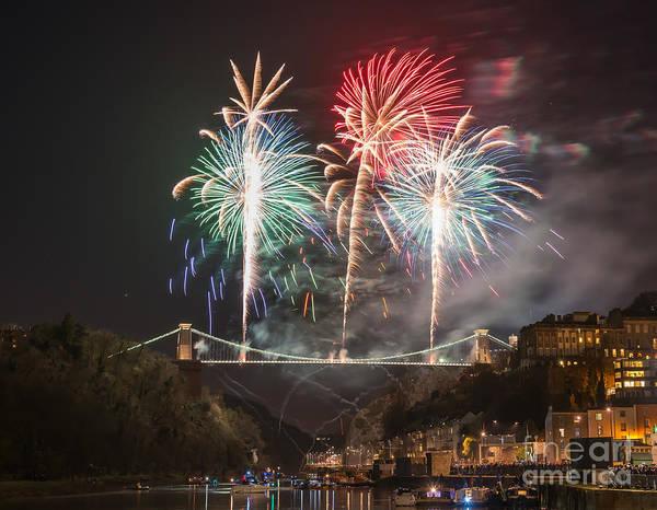 Clifton Suspension Bridge Fireworks Poster