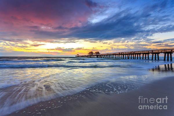 Sunset Naples Pier, Florida Poster