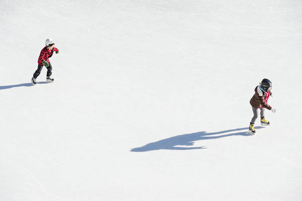 Aerial View Of Ice Skating Poster