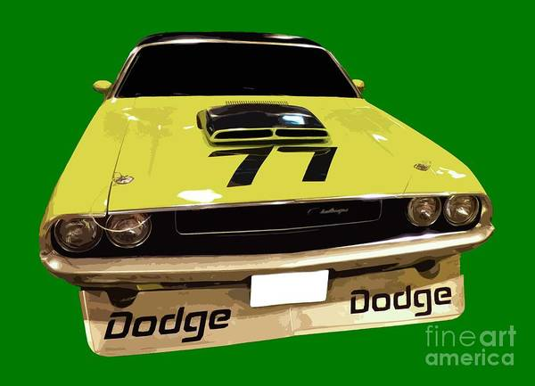 77 Yellow Dodge Poster