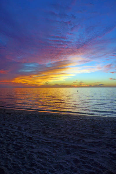 Sunset At Delnor Wiggins Pass State Park In Naples, Fl Poster