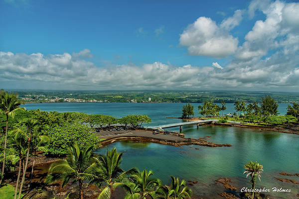A Beautiful Day Over Hilo Bay Poster