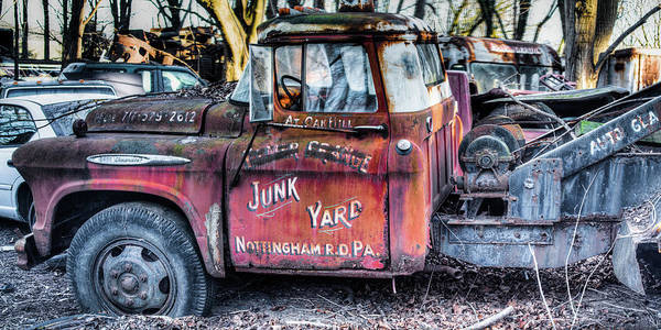 A Beautiful Rusty Old Tow Truck Poster
