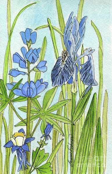 A Blue Garden Poster