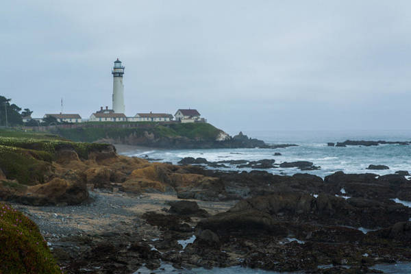 A Cloudy Day At Pigeon Point Poster