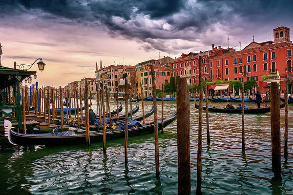 Surreal Seascape On The Grand Canal In Venice, Italy Poster