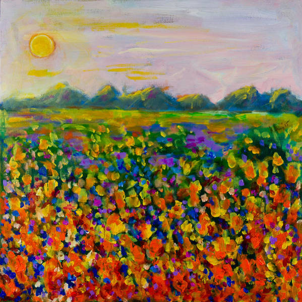 A Field Of Flowers #1 Poster