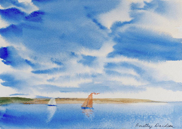 A Fine Sailing Breeze On The River Derwent Poster