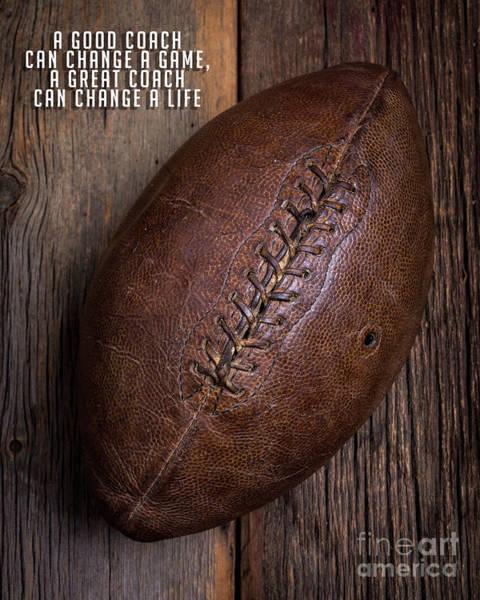 A Good Coach Vintage Football Poster