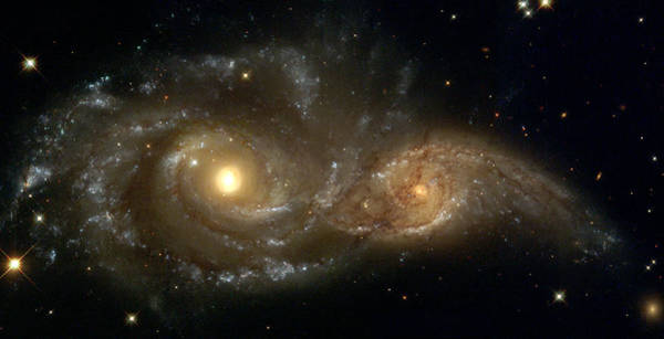 A Grazing Encounter Between Two Spiral Galaxies Poster