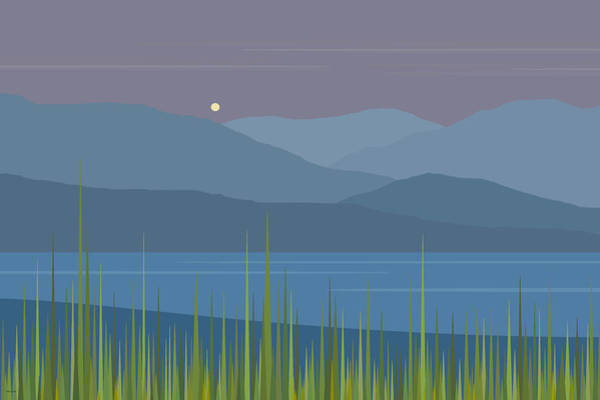 A Moon Rise After The Rain Poster