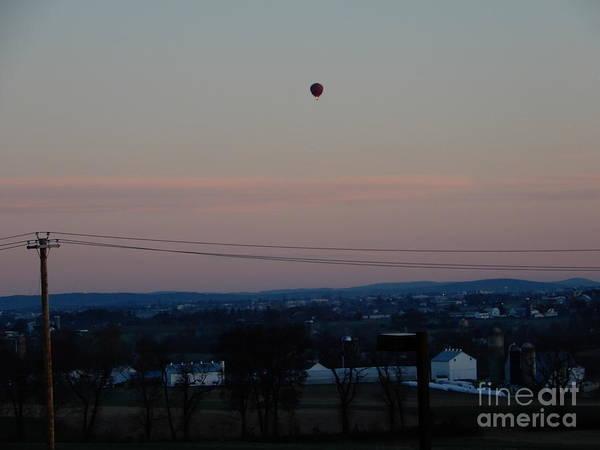 A Morning Hot Air Balloon Ride Poster