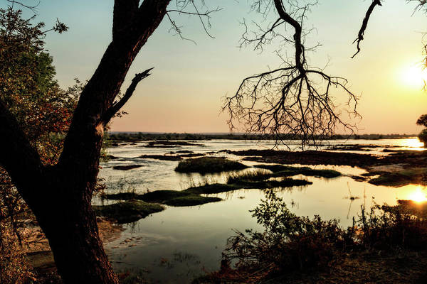 A River Sunset In Botswana Poster