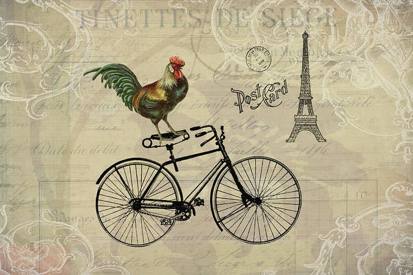 A Rooster In Paris Poster